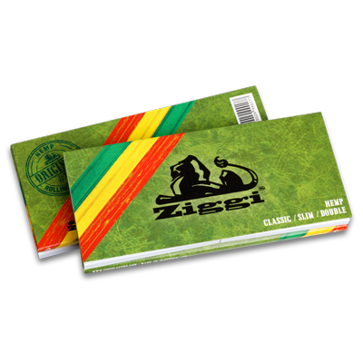 Cigaretové papieriky Ziggi Classic Hemp Double Ultra thin King size s filtrami