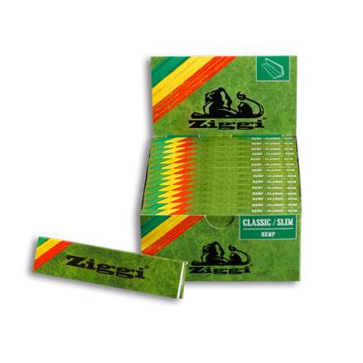 Cigaretové papieriky Ziggi Classic Slim Konopné King size s filtrami krabica
