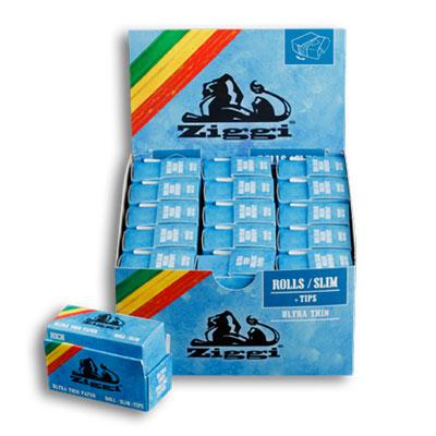 Cigaretové papieriky Ziggi Rolls Slim Ultra thin s filtrami krabica