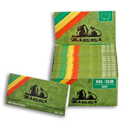 Cigaretové papieriky Ziggi URS Slim Konopné King size s filtrami krabica