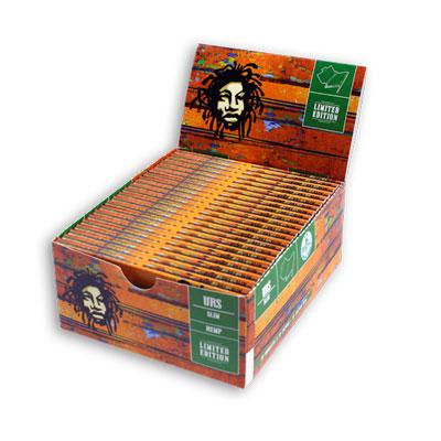 Cigaretové papieriky Ziggi URS Slim Konopné Rasta King size s filtrami krabica