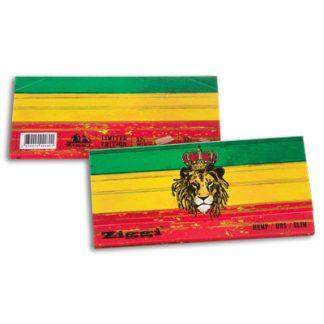 Cigaretové papieriky Ziggi URS Slim Konopné Rasta Lion King size s filtrami