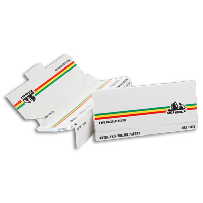 Cigaretové papieriky Ziggi URS Slim Ultra thin White/Stripes King size s filtrami