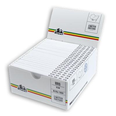 Cigaretové papieriky Ziggi URS Slim Ultra thin White/Stripes King size s filtrami krabica