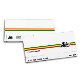 Cigaretové papieriky Ziggi URS Wide Ultra thin White/Stripes King size s filtrami