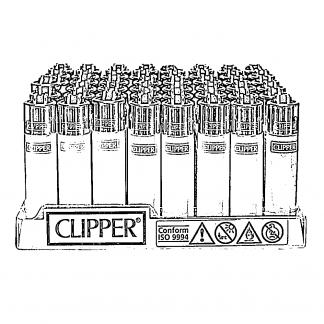 Zapaľovače Clipper plastové Mix farieb s potlačou